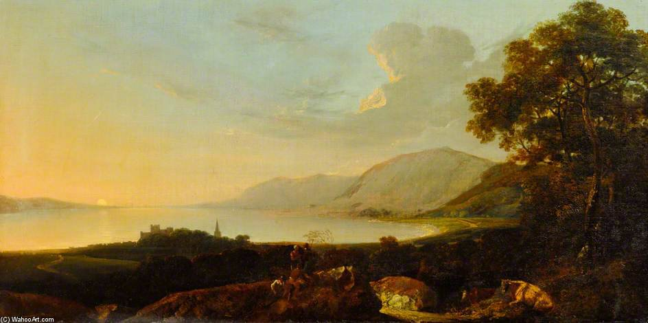 flusslandschaft mit figuren  von Thomas Barker (1769-1847, United Kingdom)