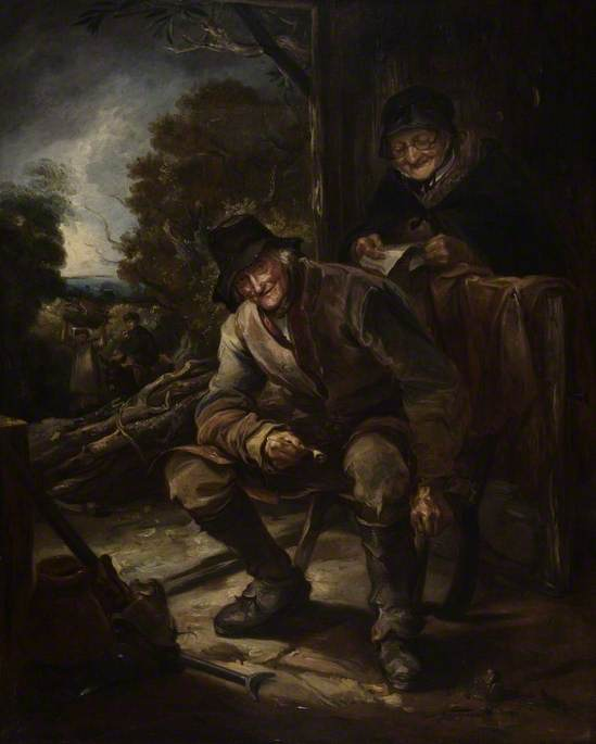 The Old Woodman von Thomas Barker (1769-1847, United States)