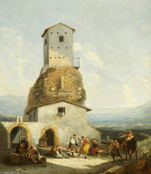 blick in Italien  von Thomas Barker (1769-1847, United Kingdom)