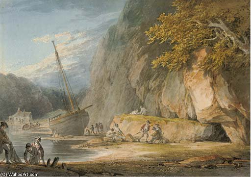 Combe Martin, Devon von William Payne (1760-1830, United Kingdom)