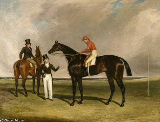 Mr. Beardsworth, Birmingham Mit Patrick Connolly Up und sein Trainer auf einem Hack in Doncaster von Abraham Cooper (1787-1868, United Kingdom)