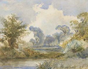 Frederick Waters (William) Watts - a fluss landschaft