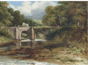 Frederick Waters (William) Watts - Über die Brücke