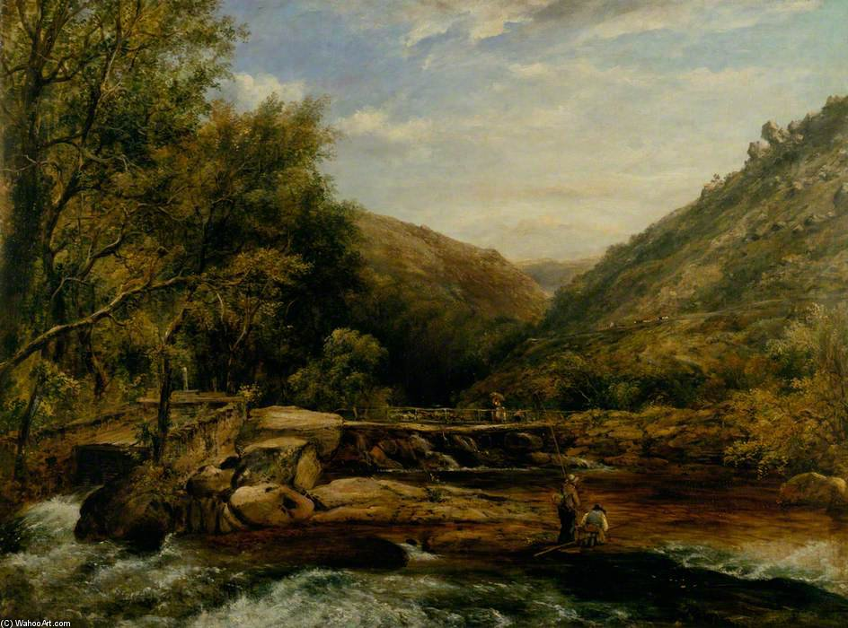 Jacksons Bridge, Cumberland von Frederick Waters (William) Watts (1800-1870, United Kingdom)