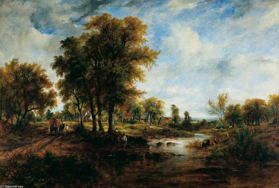 landschaft von Frederick Waters Watts (1800-1870, United Kingdom)