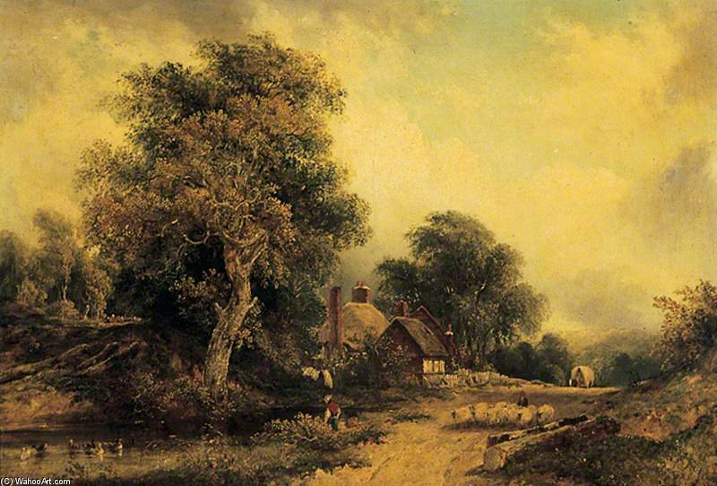 landschaft von Frederick Waters (William) Watts (1800-1870, United Kingdom)