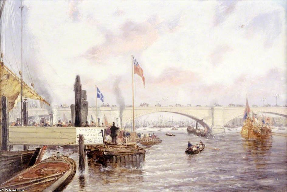 london brücke von Frederick Waters (William) Watts (1800-1870, United Kingdom)