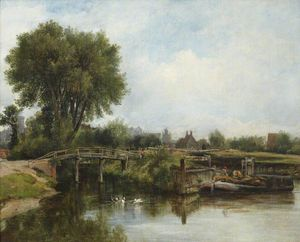 Frederick Waters (William) Watts - The Old Lock, Windsor