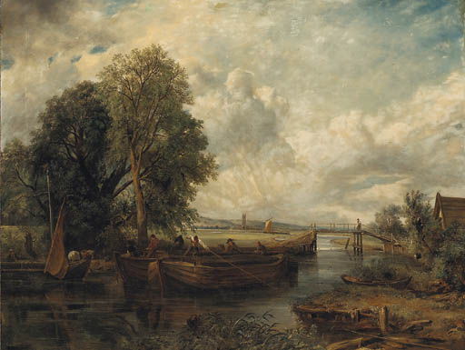 blick auf den stour Nahe Dedham von Frederick Waters (William) Watts (1800-1870, United Kingdom)