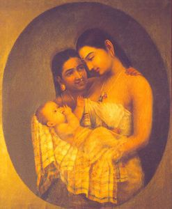 Raja Ravi Varma - mutter und kind