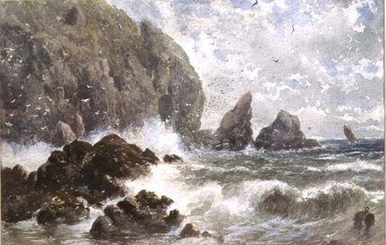 Coast-Szene von Samuel Bough (1822-1878, United Kingdom)
