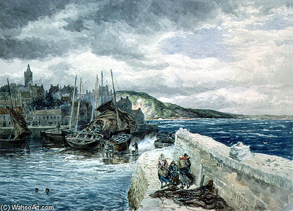 Pittenweem, Fife von Samuel Bough (1822-1878, United Kingdom)