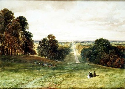The Long Walk, Windsor von Samuel Bough (1822-1878, United Kingdom)
