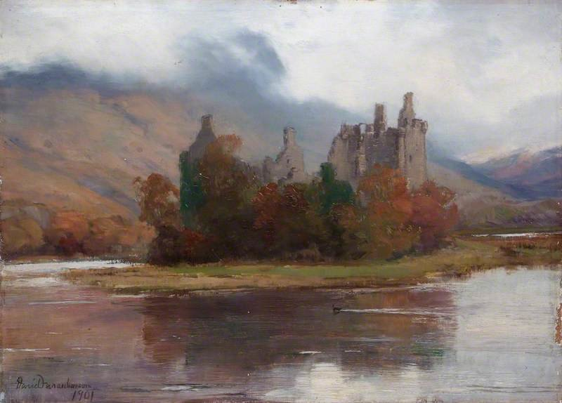 Kilchurn Castle, Argyll von David Farquharson (1839-1907, United Kingdom)