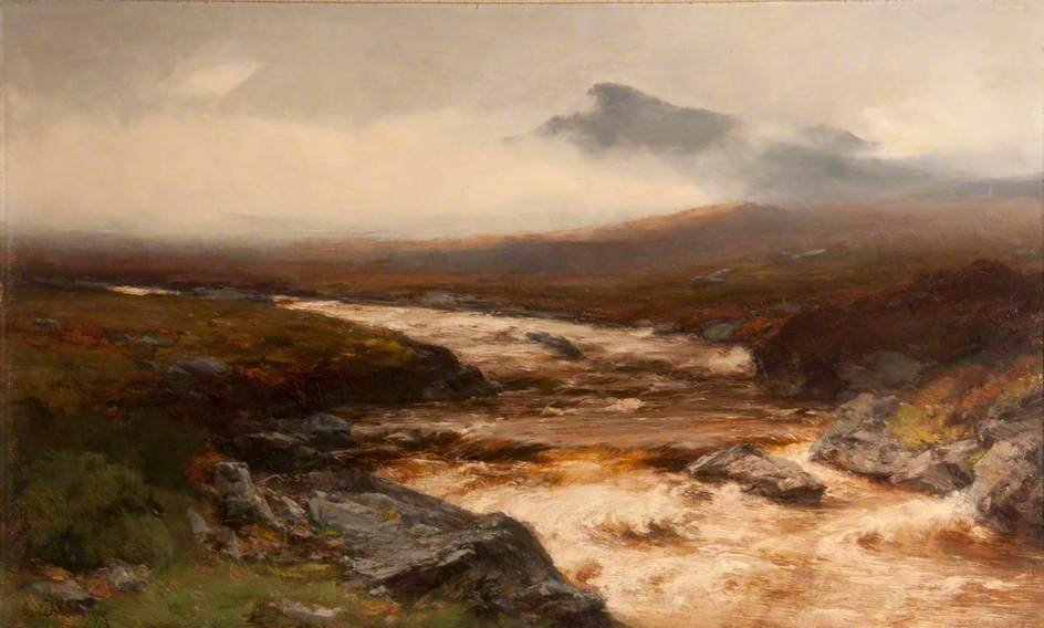 Fluss In Spate von David Farquharson (1839-1907, United Kingdom)