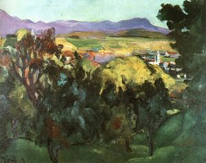 David Jandi - View Of Nagybánya