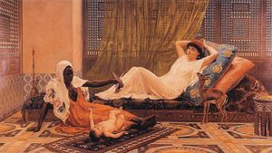 Frederick Goodall - A New Light im Harem