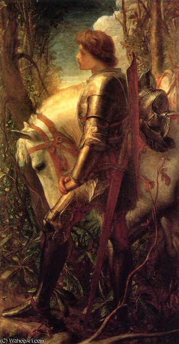 Sir Galahad von Frederick Waters Watts (1800-1870, United Kingdom)