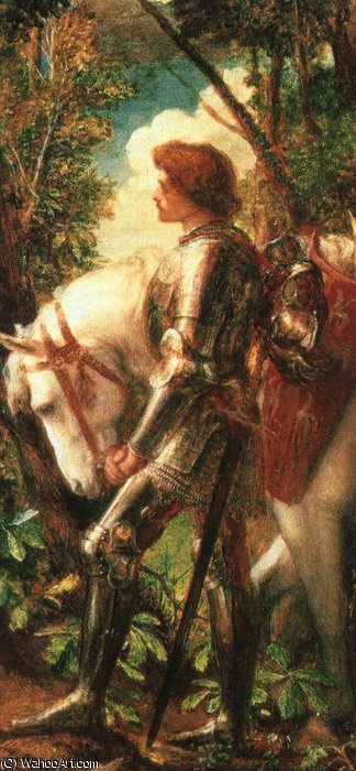 Sir Galahad von Frederick Waters (William) Watts (1800-1870, United Kingdom)