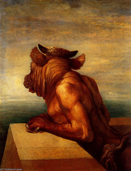 der Minotaurus von Frederick Waters (William) Watts (1800-1870, United Kingdom)
