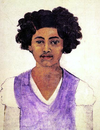Self-Portrait , von Frida Kahlo (1907-1954, Mexico)