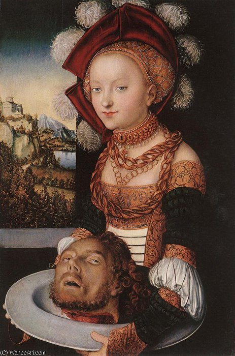salome, 1530 von Lucas Cranach The Elder (1472-1553, Germany)