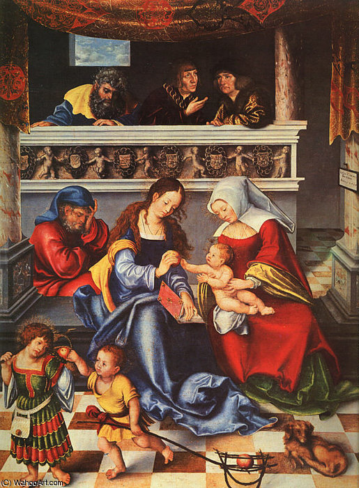 heilig familie, 1509 von Lucas Cranach The Elder (1472-1553, Germany)