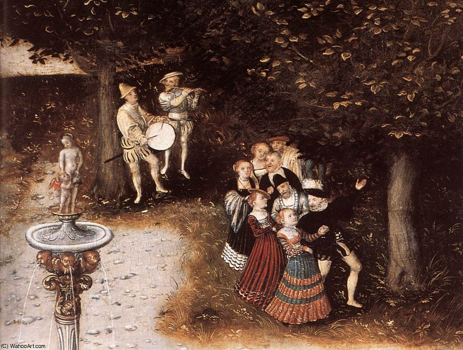 Fountain of Youth (Detail) 5 von Lucas Cranach The Elder (1472-1553, Germany)