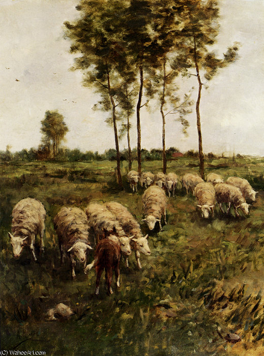 Watching the flock von Anton Mauve (1838-1888, Netherlands) | ArtsDot.com