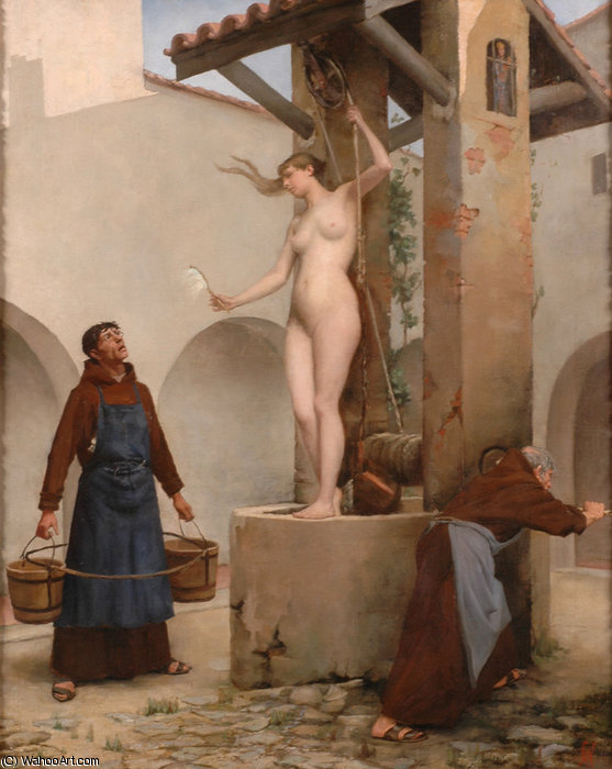 Spirit of the Well von Charles West Cope (1811-1890, United Kingdom)