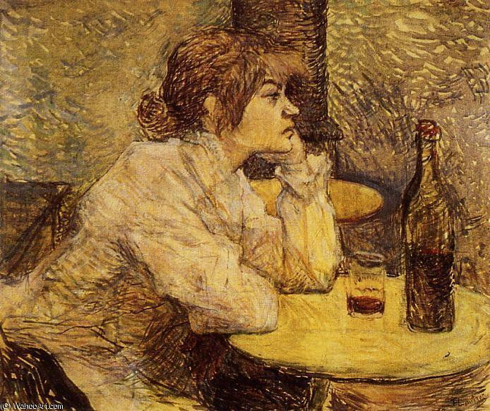 Hangover aka The Drinker von Henri De Toulouse Lautrec (1864-1901, France)