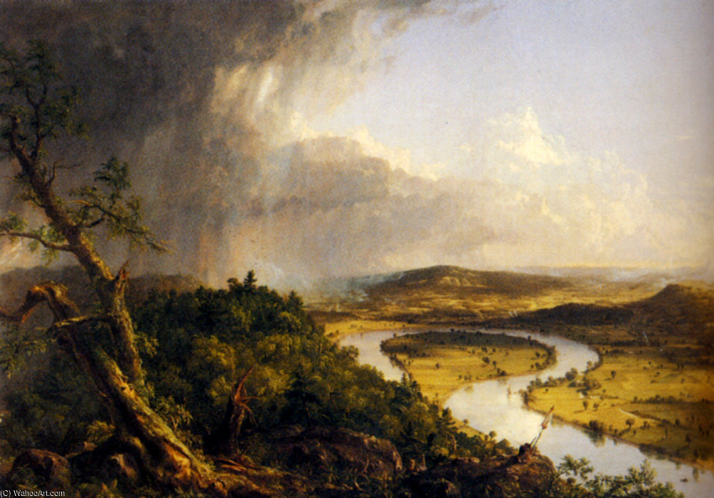 blick aus mount holyoke northampton Usa von Thomas Cole (1801-1848, United Kingdom)
