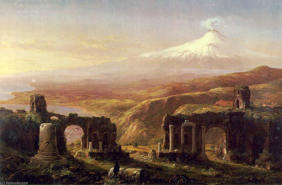 Ätna von Taormina ATC von Thomas Cole (1801-1848, United Kingdom)