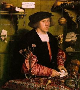 Hans Holbein The Younger - Georg gisze , ein deutsch händler in london gemäld