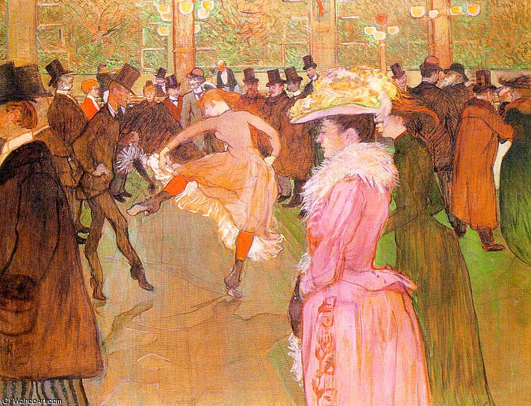 Training der New Girls von Valentin im Moulin Rouge von Henri De Toulouse Lautrec (1864-1901, France)