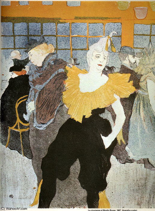 Im Moulin Rouge Die Clowness Cha-U-Kao von Henri De Toulouse Lautrec (1864-1901, France)