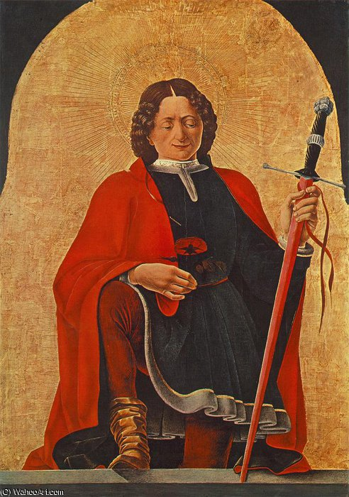 St. Florian (Griffoni Polyptych) von Francesco Del Cossa (1436-1477, Italy)