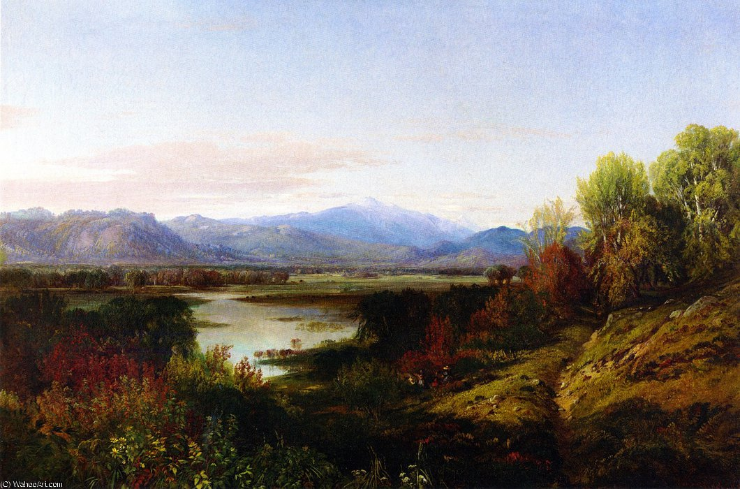 MOUNT WASHINGTON und der SACO Fluss von Aaron Draper Shattuck (1832-1928, United Kingdom)