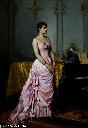 Portrait of Rose Caron von Auguste Toulmouche (1829-1890, France)