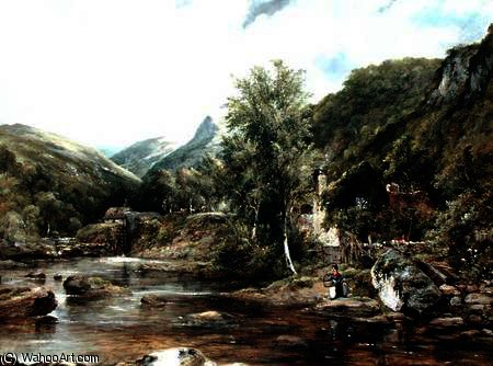Pandy Mill, Bettys-y-Coed von Frederick Waters Watts (1800-1870, United Kingdom)