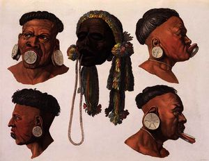 Gallo Gallina - Heads of Botocudos Indians