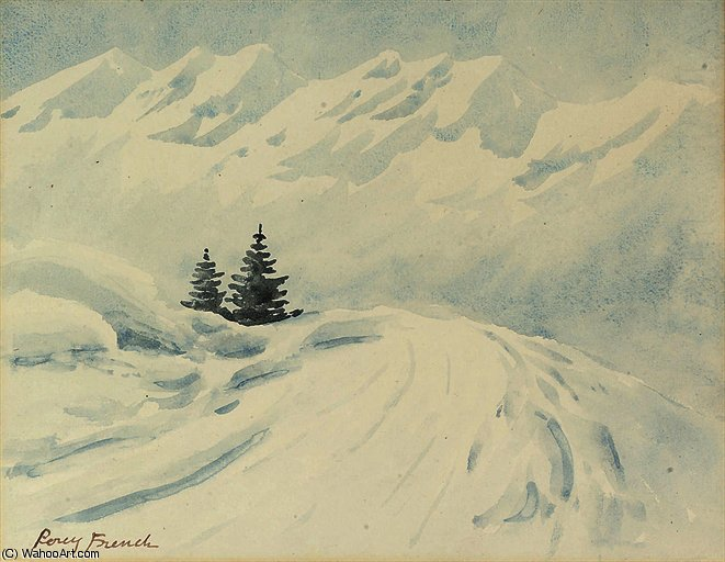 Alpine Tannen von William Percy French (1854-1920, Ireland) | Malerei Kopie | ArtsDot.com