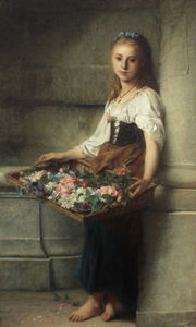 Adolphe Jourdan - Die flowerseller