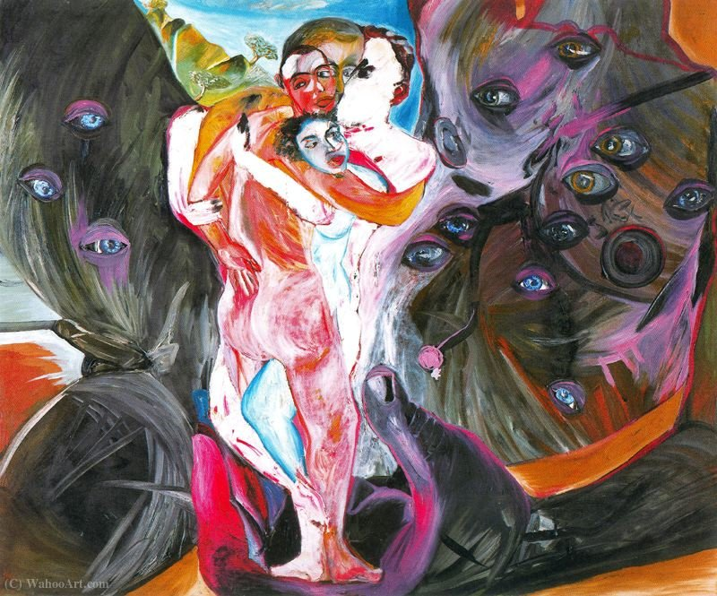 Untitled (523) von Francesco Clemente