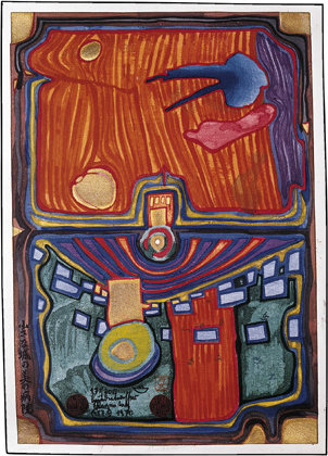 A Little Palace of Illness von Friedensreich Hundertwasser