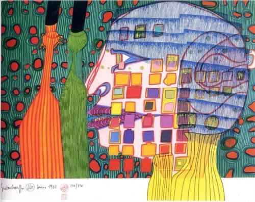 Shadow of the Stars von Friedensreich Hundertwasser (1928-2000, Austria) | ArtsDot.com