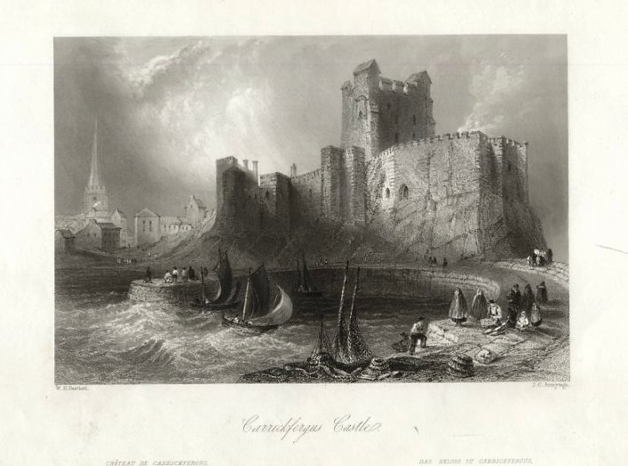 Carrickfergus Castle von Thomas Allom (1804-1872, United Kingdom)
