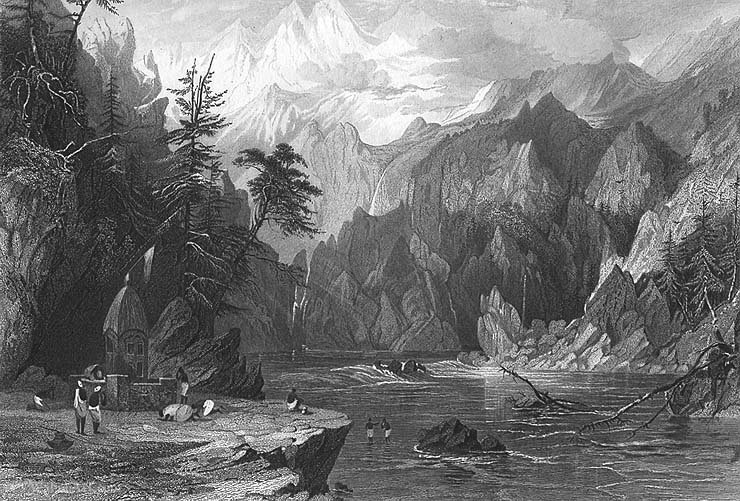 Gangotri, Ganges von Thomas Allom (1804-1872, United Kingdom)