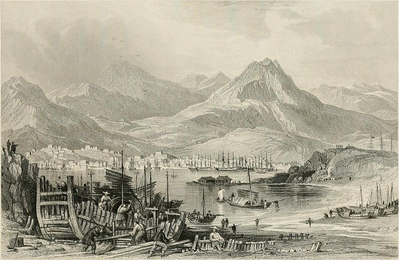Hong-kong, von Kow-loon von Thomas Allom (1804-1872, London)