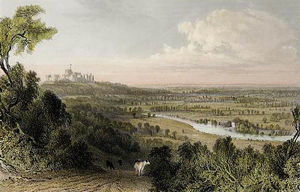 Thomas Allom - Blick von Coopers Hill